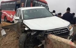 Xế sang Audi biến dạng sau tai nạn liên hoàn trên cao tốc Pháp Vân - Cầu Giẽ