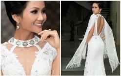 Hoa hậu H'Hen Niê khoe vẻ đẹp cực nóng bỏng trong bộ đầm trắng cut out táo bạo