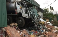 Xe bồn chở dầu xuyên thủng nhà dân, thiệt hại tài sản gần 1 tỷ đồng