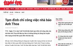 Đình chỉ nhà báo Anh Thoa báo Tuổi trẻ làm rõ nghi vấn xâm hại tình dục