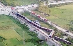 Hiện trường vụ TN tàu hỏa khiến 2 người chết, 8 người bị thương ở Thanh Hóa
