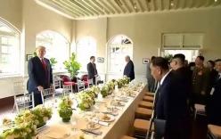 Trump  và Kim Jong-un ăn gì trong bữa trưa chung đầu tiên?