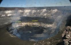 Dùng drone quan sát miệng núi lửa vừa tàn phá Hawaii, chuyên gia phát hiện điều đáng sợ!