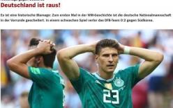 Truyền thông Đức gọi thất bại của Die Mannschaft là