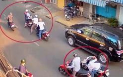 Nhóm thanh niên đi bộ chặn đánh cô gái, cướp xe tay ga ở Sài Gòn