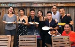 Tăng Thanh Hà lộ thân hình gầy nhom khi cùng chồng tụ tập với hội bạn thân