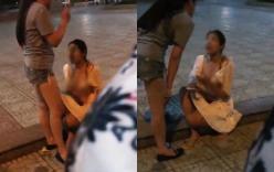 Bị tát và lột áo đánh ghen giữa đường, người phụ nữ vẫn bình thản: