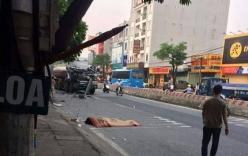 Tai nạn giao thông liên hoàn, xe tải chồm cán tử vong người đi bộ