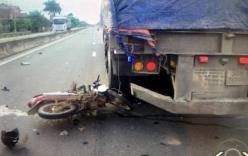 Tai nạn giao thông nghiêm trọng: Va chạm xe container, chồng chết, vợ nguy kịch