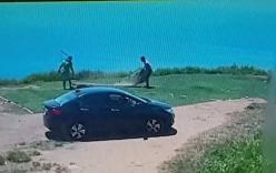 Hai thanh niên đi ô tô trộm cỏ trên núi Sơn Trà lén lút mang trả lại