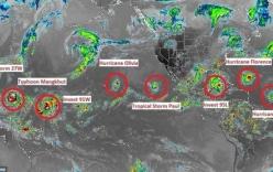 9 cơn bão xuất hiện cùng lúc, chuyên gia cảnh báo điểm