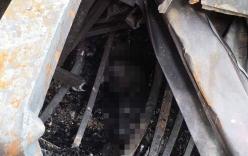 Hiện trường phát hiện nhiều phần nghi là thi thể người ở khu vực cháy nhà ông Hiệp \