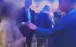 Clip: Phóng viên Trung Quốc hùng hổ tát sưng mặt đại biểu hội nghị ở Anh