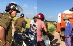 Đưa máy gặt ra đồng, người dân Phú Thọ bị công an xã cản trở vì không có
