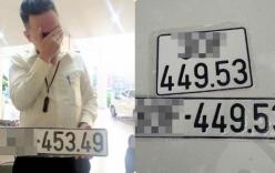 Người đàn ông tay ôm mặt vì lỡ bấm trúng biển số đại hạn 5349 khiến cư dân mạng phì cười