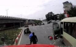 Tài xế bị đánh nhừ tử vì tạt đầu xe tải trên đường