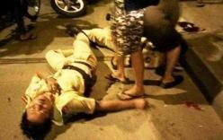 Tài xế ô tô gây tai nạn, hung hăng đánh CSGT ngã xuống đường