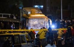 Cận cảnh hiện trường vụ xe buýt chở 14 du khách Việt bị đánh bom ở Ai Cập