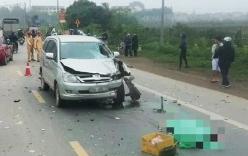 Xe Innova vượt ẩu tông trực diện xe máy khiến 2 người tử vong
