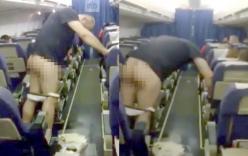 Say rượu, hành khách thản nhiên tụt quần, đi tiểu giữa khoang máy bay