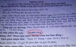 Quảng Nam: Xôn xao chuyện được thưởng 15.025 đồng vì bàn giao mặt bằng đúng quy định
