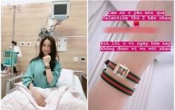 Hòa Minzy dành trọn ngày lễ tình nhân cùng bạn trai đại gia trong bệnh viện