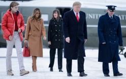 Quý tử út nhà Tổng thống Trump 12 tuổi đã cao hơn bố, đẹp trai như tài tử