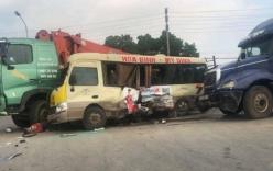 Tai nạn liên hoàn trên Đại lộ Thăng Long khiến 7 người thương vong