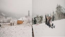 Đỉnh cao săn tuyết: Cặp đôi Hà Nội khiến dân tình trầm trồ với bộ cảnh cưới để đời ở Y Tý