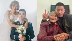 Ảnh cưới đặc biệt của chú rể 24 tuổi và cô dâu 85 tuổi khiến người xem rơi nước mắt