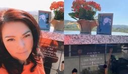Đến thăm nơi an nghỉ của nghệ sĩ Chí Tài, ca sĩ Phương Loan hé lộ sự thay đổi đặc biệt này