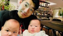 Trương Nam Thành hạnh phúc làm bố, khoe hai con song sinh