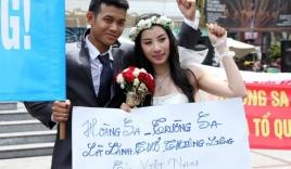 Đôi uyên ương dừng chụp ảnh, mặc đồ cưới để phản đối Trung Quốc