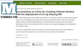 Hơn 100.000 chữ ký kêu gọi Mỹ trừng phạt Trung Quốc