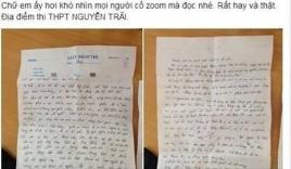 Nữ sinh thi ĐH thú nhận bán thân lấy tiền đi học trong giấy nháp?