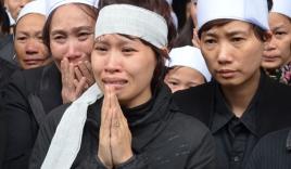 Đẫm nước mắt đưa tiễn nạn nhân tai nạn đường sắt trên cao