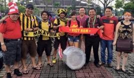 Chỉ có hơn chục CĐV từ Malaysia sang Việt Nam cổ vũ
