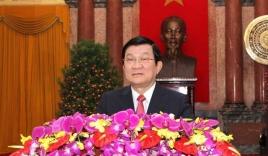 Chủ tịch nước Trương Tấn Sang đọc thư chúc tết Ất Mùi 2015