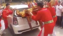 Kiệu 'bay' húc vỡ kính ô tô ở Hà Nội: Lộ diện chủ xe