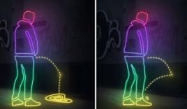 Loại sơn độc đáo chống nạn tiểu bậy nơi công cộng