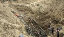 Sập hầm vàng, 2 thanh niên chết thảm