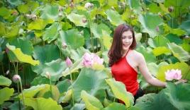 Ngắm thiếu nữ Hà Thành đẹp mê hồn bên sen Hồ Tây
