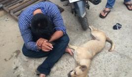Trộm chó bị phát hiện, nhảy xuống sông bèo