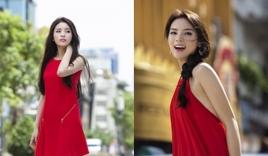 Hoa hậu Kỳ Duyên xinh tươi rạng rỡ sau sự cố chụp lén