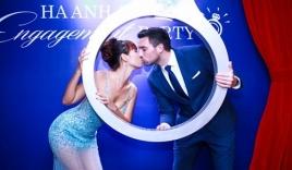 Hà Anh khóa môi đắm đuối hôn phu trong tiệc đính hôn