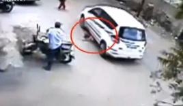 Bé gái may mắn thoát chết sau khi bị ô tô chèn 2 lần lên người