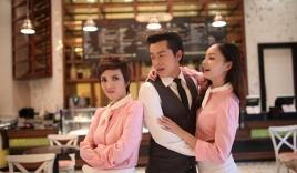 Thu Trang được đoàn làm phim bất ngờ mừng sinh nhật tại phim trường