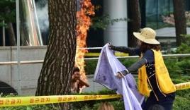 Video: Cụ ông tự thiêu trước Đại sứ quán Nhật ở Hàn Quốc