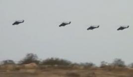 Trực thăng của Không quân Nga tập trận tấn công đoàn hộ tống