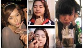 Mặt mộc kém sắc khi không son phấn của dàn hot girl Việt